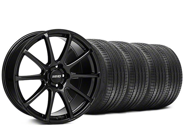 Staggered MMD Axim Gloss Black Wheel & Sumitomo Tire Kit - 20x8.5/10 (05-14 All)