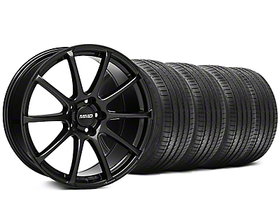 MMD Staggered Axim Gloss Black Wheel & Sumitomo Tire Kit - 20x8.5/10 (05-14 All)
