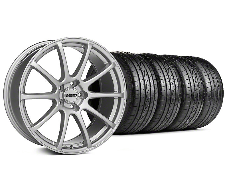Staggered MMD Axim Silver Wheel & Sumitomo Tire Kit - 20x8.5/10 (05-14 All)