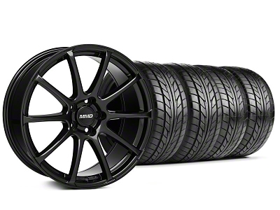 MMD Staggered Axim Gloss Black Wheel & NITTO Tire Kit - 20x8.5/10 (05-14 All)