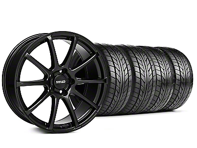 Staggered MMD Axim Gloss Black Wheel & NITTO Tire Kit - 20x8.5/10 (05-14 All)