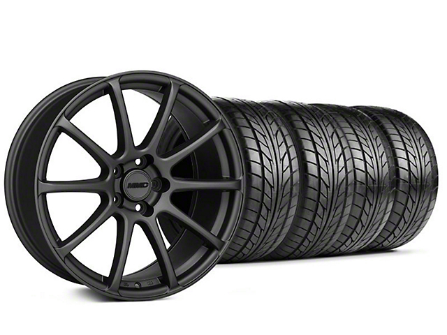 Staggered MMD Axim Charcoal Wheel & NITTO Tire Kit - 20x8.5/10 (05-14 All)