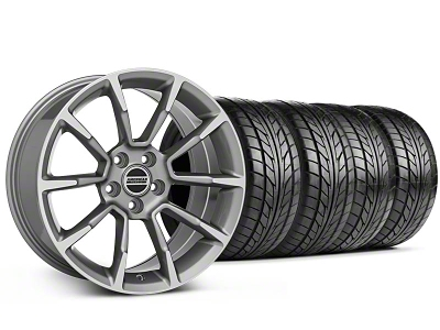 American Muscle Wheels Staggered 11/12 GT/CS Style Anthracite Wheel & NITTO Tire Kit - 18x9/10 (99-04 All)