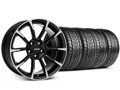 Staggered 11/12 GT/CS Style Black Machined Wheel & NITTO Tire Kit - 18x9/10 (99-04 All)