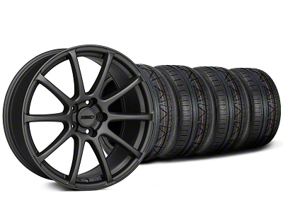 MMD Staggered Axim Charcoal Wheel & NITTO INVO Tire Kit - 19x8.5/10 (05-14 All)