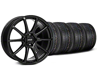 MMD Staggered Axim Gloss Black Wheel & NITTO INVO Tire Kit - 19x8.5/10 (05-14 All)