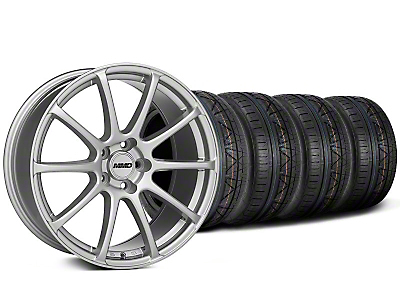 MMD Staggered Axim Silver Wheel & NITTO INVO Tire Kit - 19x8.5/10 (05-14 All)