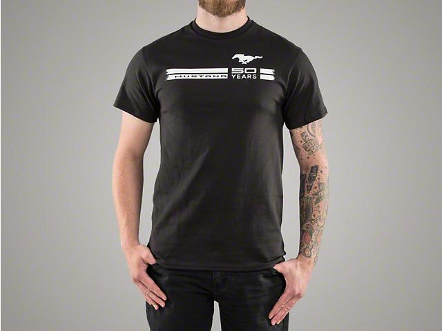 Mustang 50th Anniversary Black T-Shirt - Men