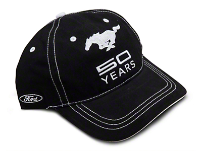 Mustang 50th Anniversary Hat - Black