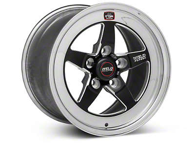 Weld Racing RT-S S71 Black Wheel - 15X9 (05-10 V6; 05-14 GT; 07-12 GT500)