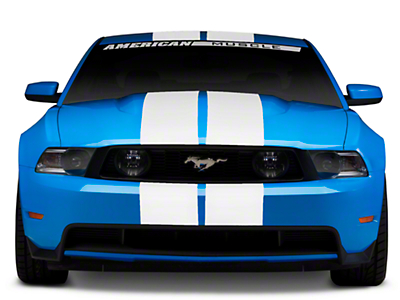 Matte White GT500 Style Stripes - 10in (05-14 All)