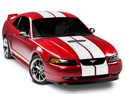 Matte White GT500 Style Stripes - 10in (94-04 All)