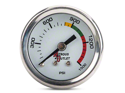 Nitrous Outlet Bottle Pressure Gauge - 4AN (79-14 All)