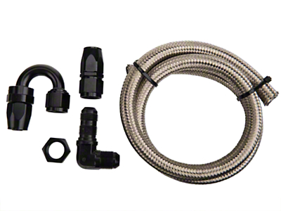 Nitrous Outlet 180 Degree Blow Down Kit - 90 Deg Fitting (79-14 All)