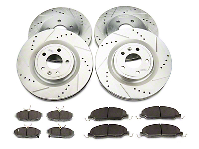 Power Stop Street Warrior Brake Rotor & Ceramic Pad Kit - Front & Rear (11-14 GT)