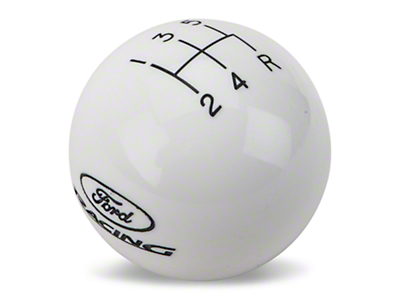 Ford Racing Short Throw 5-Speed Shift Knob - White (05-10 GT, V6)