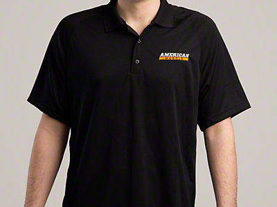AmericanMuscle Performance Polo Shirt - Black