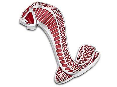 Ford Red GT500 Cobra Snake Fender Emblem - Left Side (07-14 GT500)