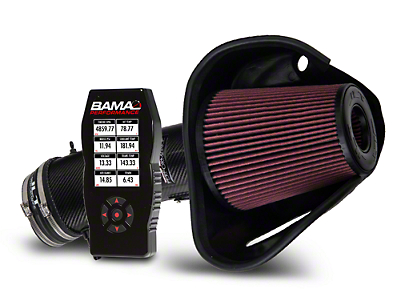 BAMA JLT Big Air Carbon Fiber Cold Air Intake & BAMA X4 Tuner (10-12 GT500)