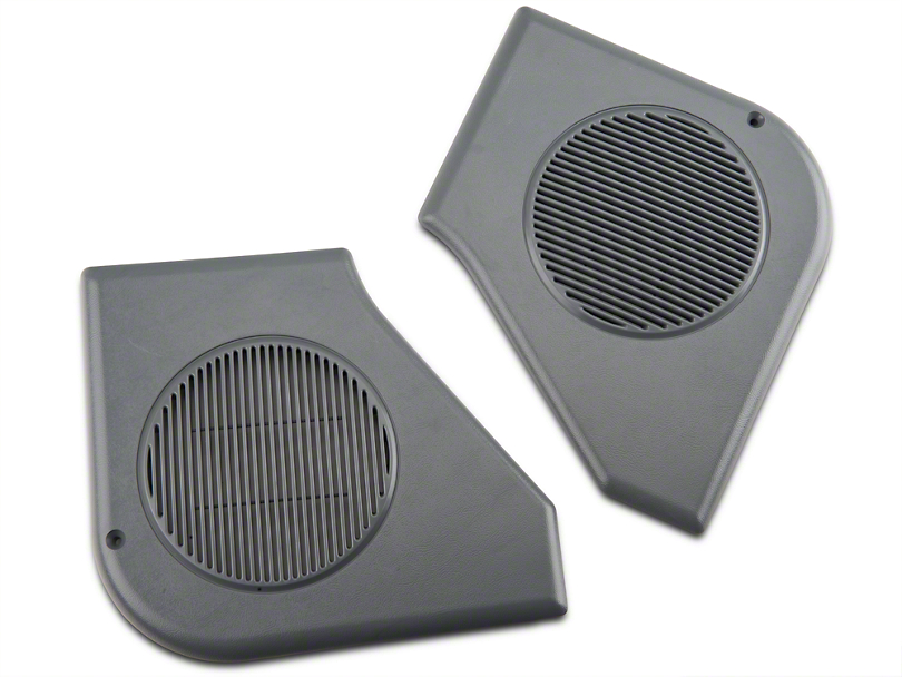 Door Speaker Grille Kit - Smoke Gray (87-89 All)