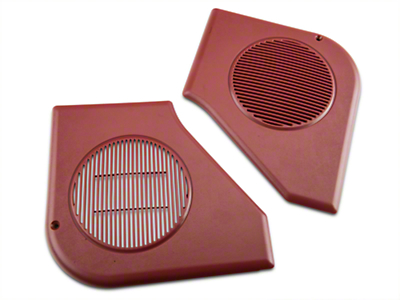 Door Speaker Grille Kit - Scarlet Red (87-93 All)