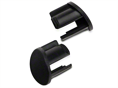 Black Door Armrest Plugs - Left Side (87-93 All)