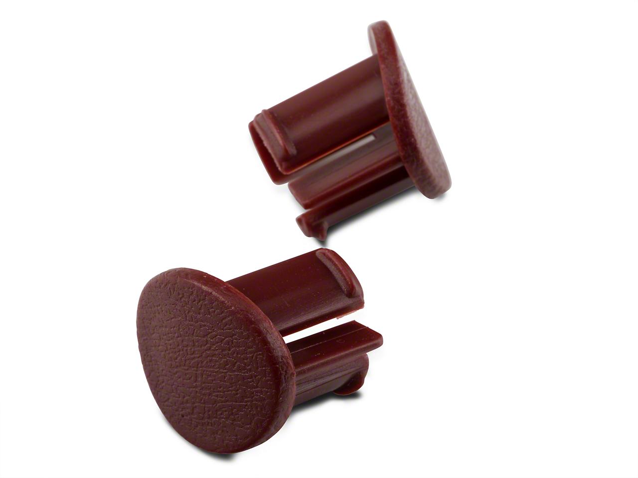 Red Door Armrest Plugs - Left Side (87-93 All)