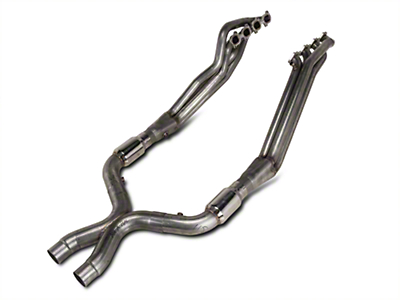 Stainless Works Long Tube Headers and High Flow Catted X-Pipe Kit (11-14 GT500)