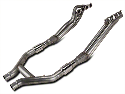 Stainless Works Long Tube Headers and High Flow Catted H-Pipe Kit (11-14 GT500)