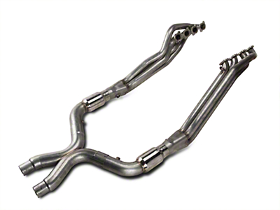 Stainless Works Long Tube Headers and High Flow Catted X-Pipe Kit (07-10 GT500)