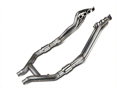 Stainless Works Long Tube Headers and High Flow Catted H-Pipe Kit (07-10 GT500)
