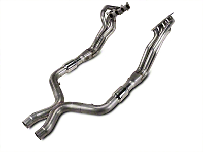 Stainless Works Long Tube Headers and High Flow Catted X-Pipe Kit (11-14 GT)