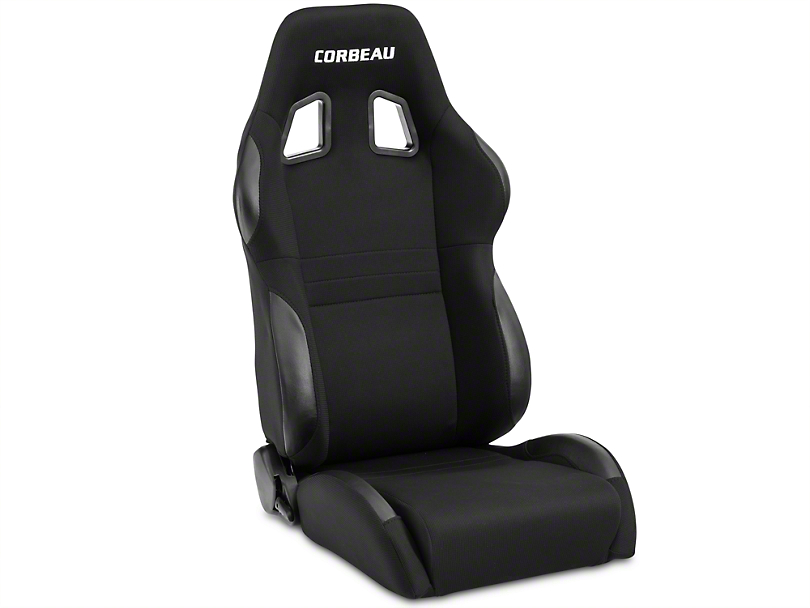 Corbeau A4 Seat - Black - Pair (79-17 All)
