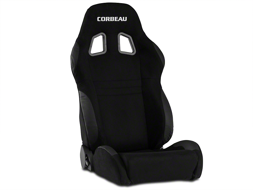 Corbeau A4 Seat - Black Microsuede - Pair (79-17 All)