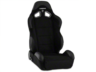 Corbeau CR1 Racing Seat - Black Microsuede (79-14 All)