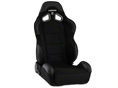Corbeau CR1 Racing Seat - Black Microsuede (79-16 All)