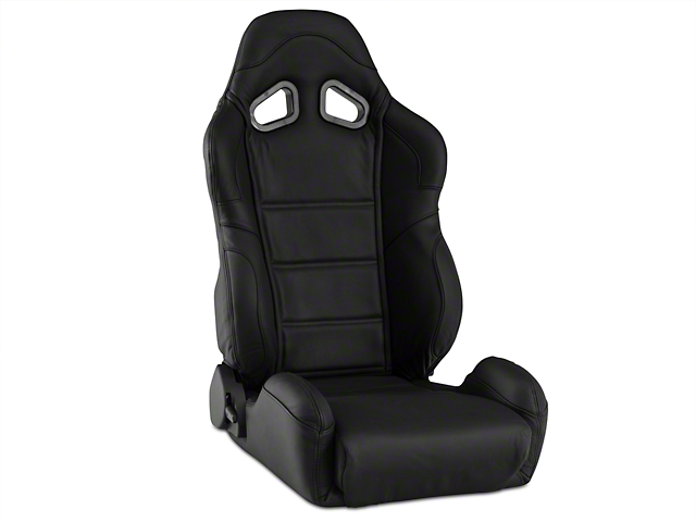 Corbeau CR1 Racing Seat - Black Leather (79-17 All)