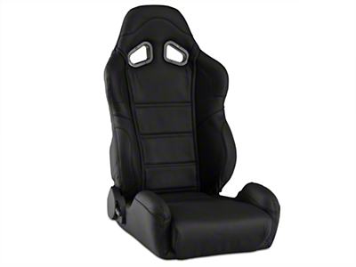 Corbeau CR1 Racing Seat - Black Leather - Pair (79-17 All)