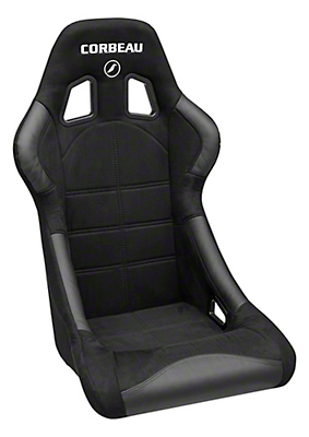 Corbeau Forza Seat - Black Microsuede (79-14 All)