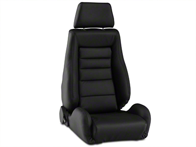 Corbeau GTS II Racing Seat - Black Leather (79-16 All)