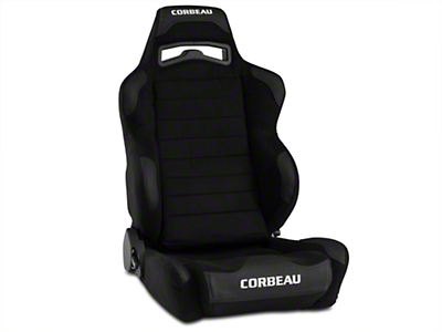 Corbeau LG1 Racing Seat - Black Microsuede (79-16 All)
