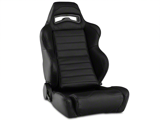 Corbeau LG1 Racing Seat - Black Leather - Pair (79-17 All)