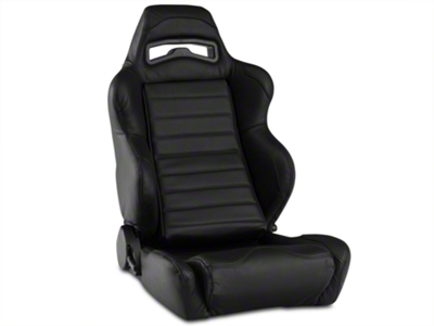 Corbeau LG1 Racing Seat - Black Leather (79-14 All)