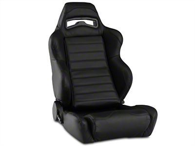 Corbeau LG1 Racing Seat - Black Leather (79-16 All)