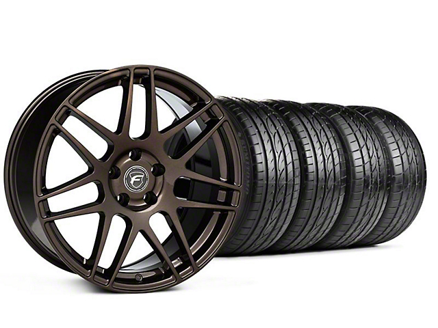 Forgestar F14 Monoblock Bronze Burst Wheel & Sumitomo Tire Kit - 19x9 (05-14 All)
