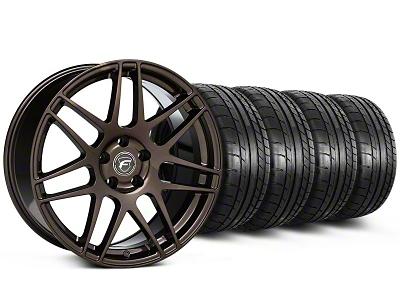 Forgestar F14 Monoblock Bronze Burst Wheel & Mickey Thompson Tire Kit - 19x9 (05-14 All)