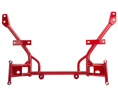 BMR Tubular K-Member - Standard Motor Mounts - Red (05-10 All)