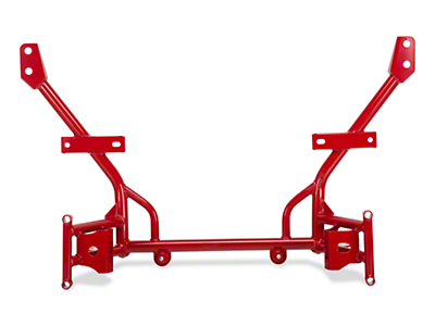 BMR Tubular K-Member - Lowered Motor Mounts - Red (05-10 All)