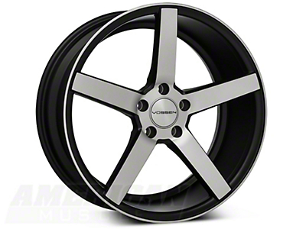 Vossen CV3 Machined Matte Black Wheel - 19x8.5 (05-14 All)