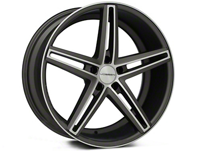 Vossen CV5 Matte Graphite Machined Wheel - 20x9 (15-16 All)